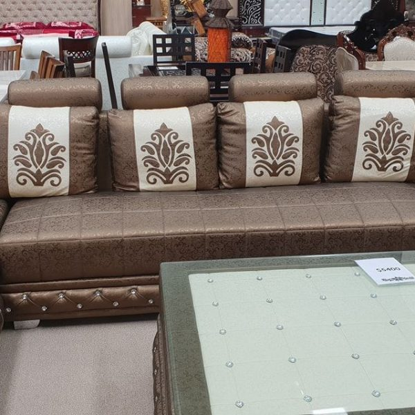 Brown-with-white-patch-sofa-set