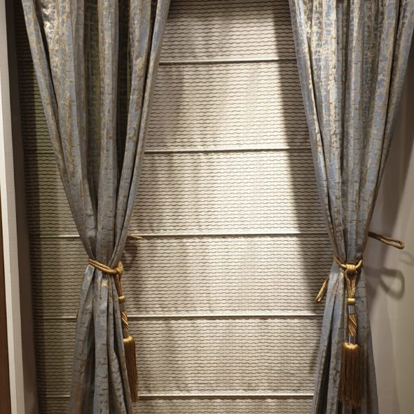Golden Greyish Designer Blinds