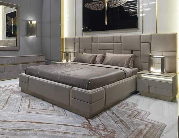 Grey Large Bed With Sides