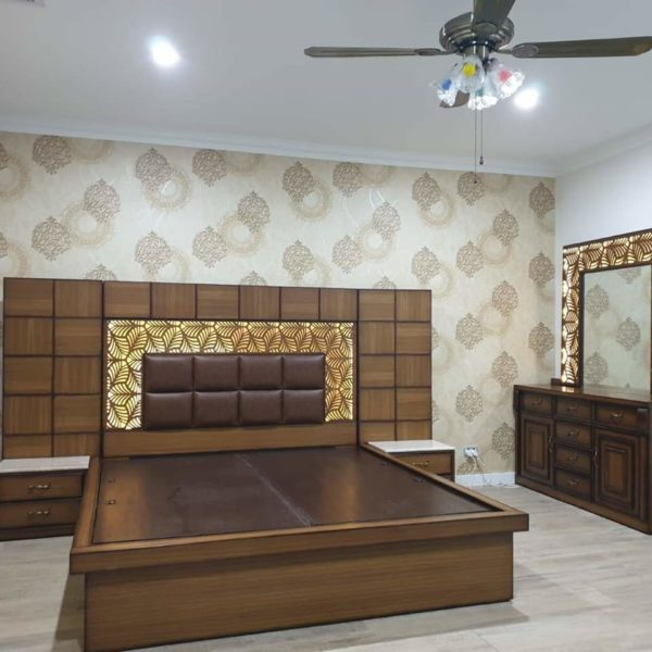 Brown colored Bed with sides