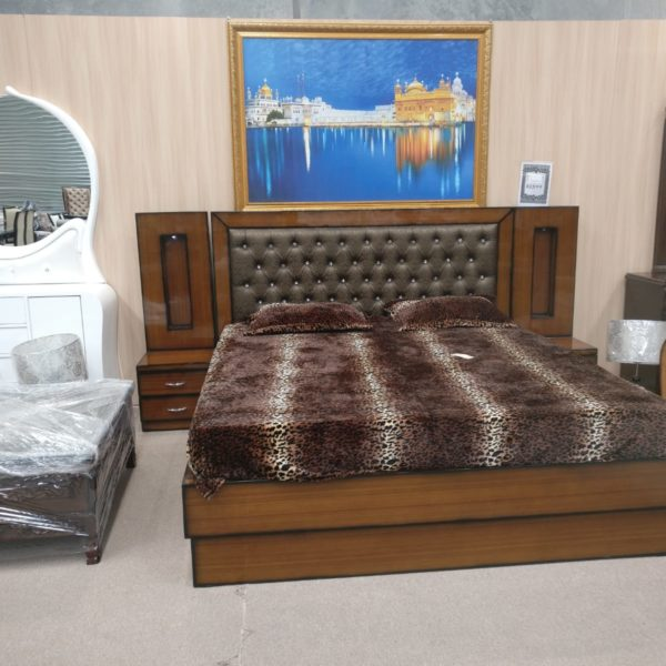 Brown color Bed with Sides