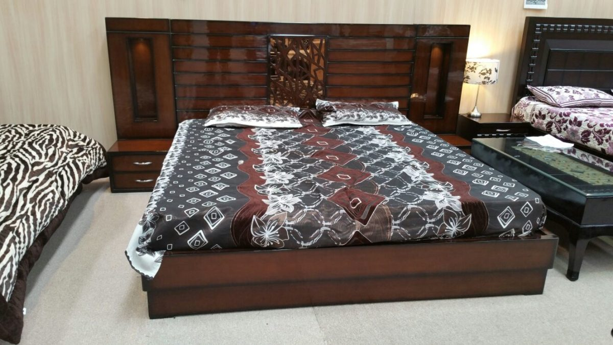 Large Brownish bed with Sides