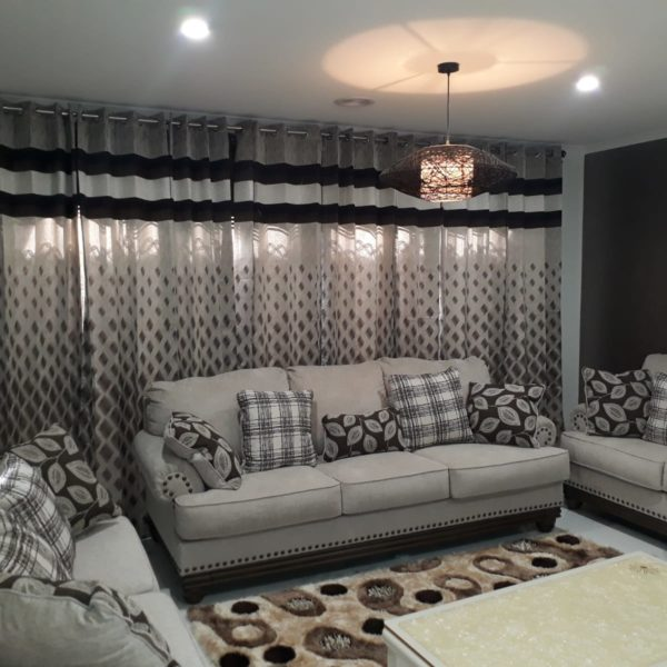 Beautiful White Grayish Sofa Set