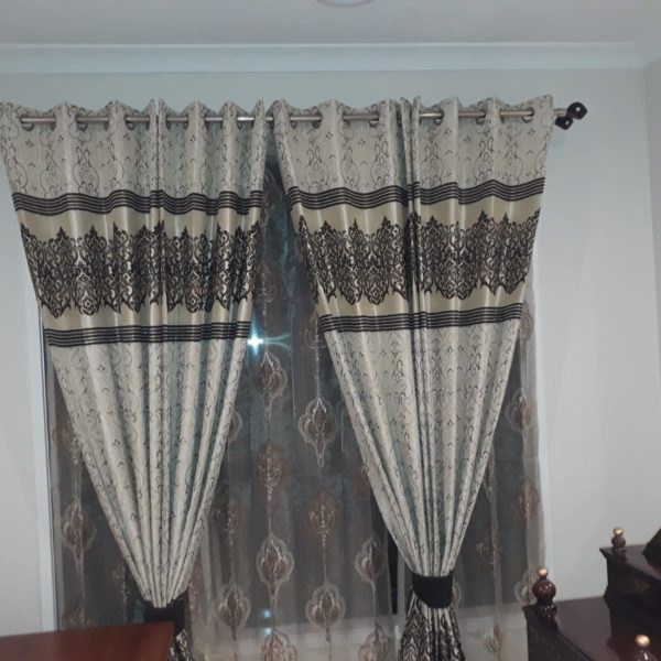 White And Dark Grayish Blinds