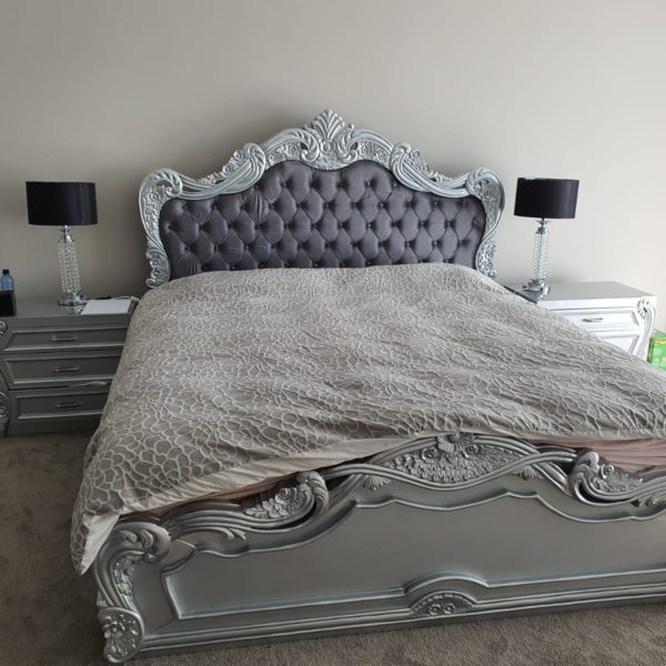 Royal Silver-Grey Bed