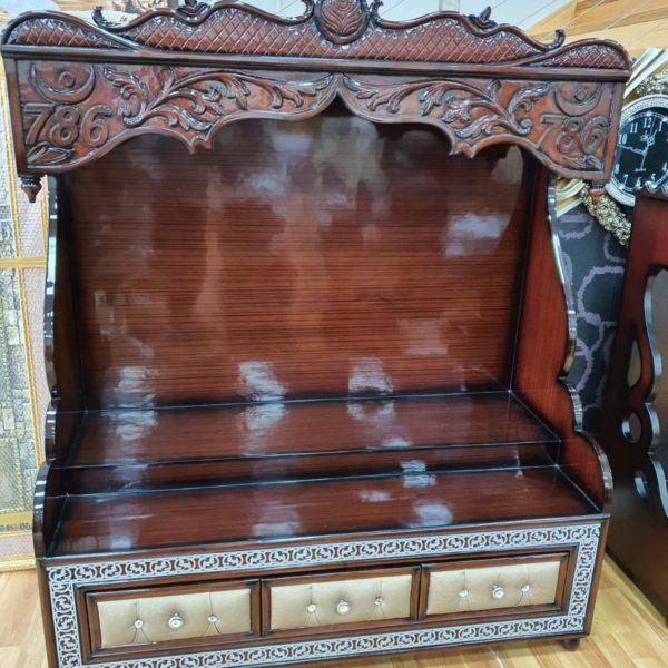 Luxury Walnut Brown Wooden Mandir