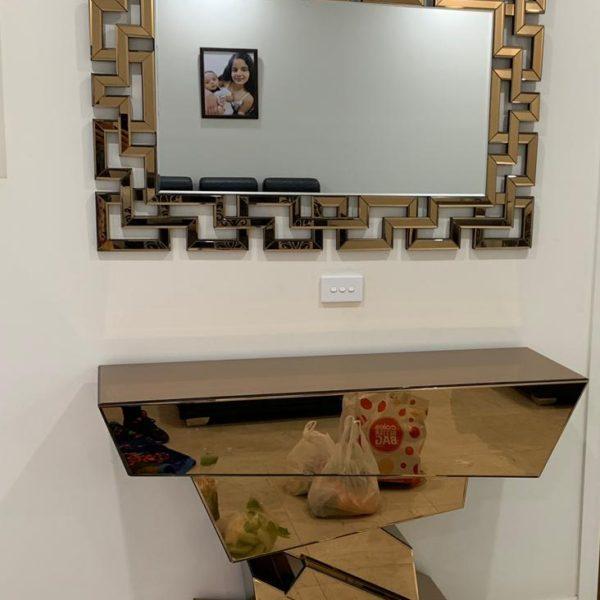 Wall Decor Hanging Designer Mirror & Console