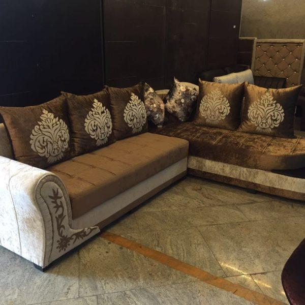 Golden-Beige Sofa Set