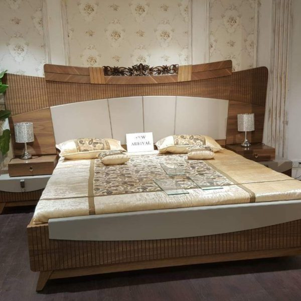 Light Shade Elite Wooden Double Bed