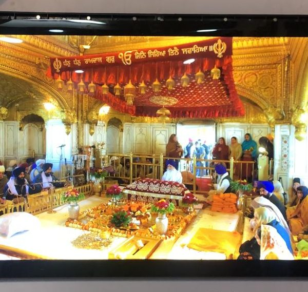 Wall Decor Golden Temple LED Scenery